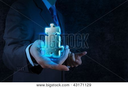 Businessman Hand Showing Partnership Sign