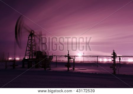 Pump Jack And Oilwell.