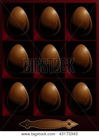 Box With Chocolate Easter Eggs