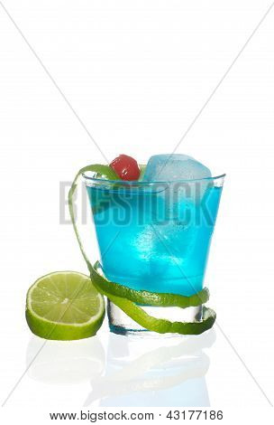 Blue Kamikaze Cocktail