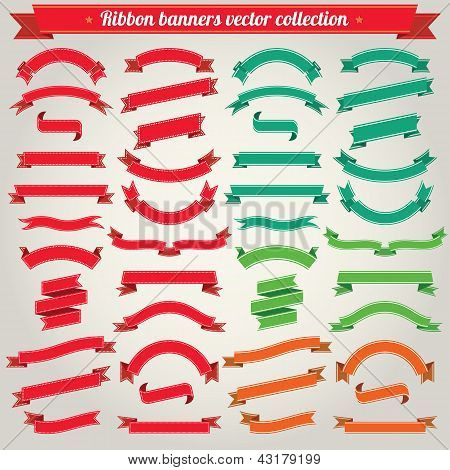Ribbon Banners Vector Collection