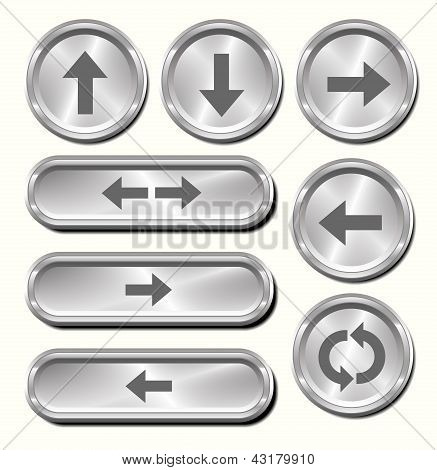 Metal Arrow Buttons