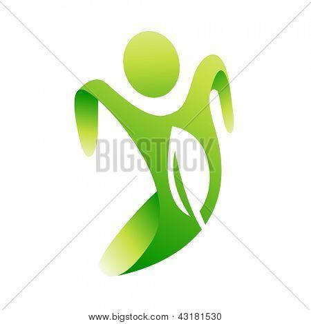 Vector green eco man concept