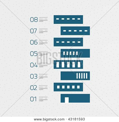 Real estate infographics in retro style. Can be used as banner, print template, infographics, web layout,