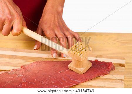 Un filete de ablandamiento