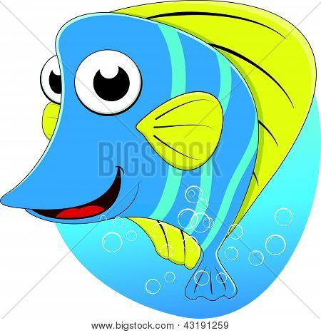 Cute Tropical Butterfly fish