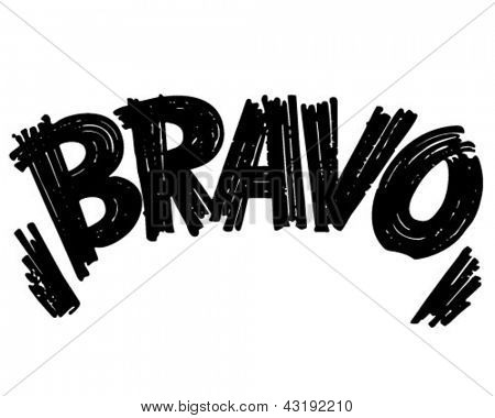 Bravo Header - Retro Clip Art Illustration