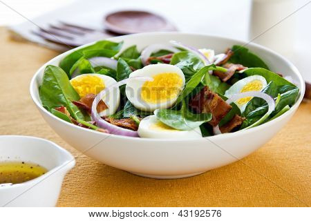 Bacon With Egg And Spinach Salad