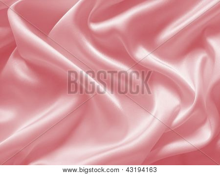 Draped pink silk background
