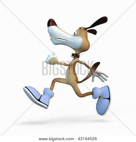The Athlete On Jog.