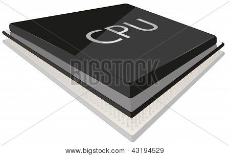 CPU vector illustration
