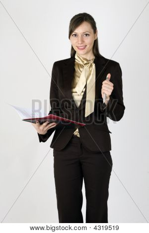 Young Businesswoman Looking In The Camera
