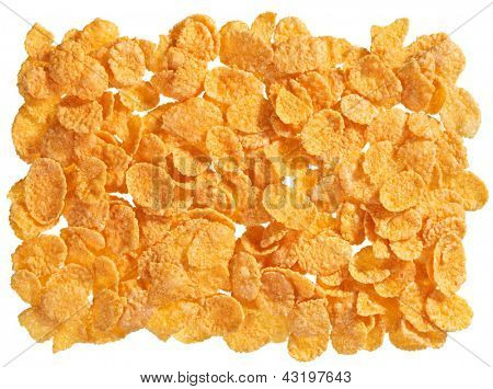 Corn flakes food ingredient background