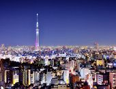 stock photo of kanto  - View of Tokyo Sky Tree at night - JPG