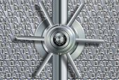 picture of vault  - Vault lock in front of group of words spelling data - JPG