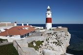 stock photo of gibraltar  - Europa Point lighthouse in Gibraltar - JPG