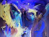 Blue Abstract Paintings