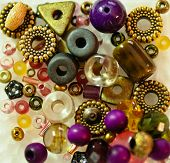 colourful bead assortment