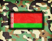 picture of ami  - Amy camouflage uniform with flag on it Belarus - JPG