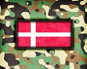 image of ami  - Amy camouflage uniform with flag on it Denmark - JPG