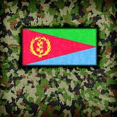 pic of ami  - Amy camouflage uniform with flag on it Eritrea - JPG