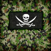 image of ami  - Amy camouflage uniform with flag on it Pirate - JPG