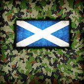 image of ami  - Amy camouflage uniform with flag on it Scotland - JPG