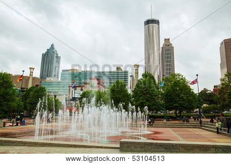 Downtown Atlanta On An Overcast Day