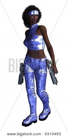 Woman Holding Guns