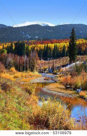 Scenic landscape in Gunnison national forest