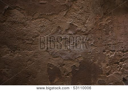 Old Stone Plastered Wall