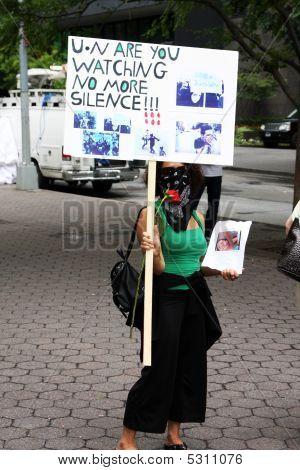 Iran Proteste in New york