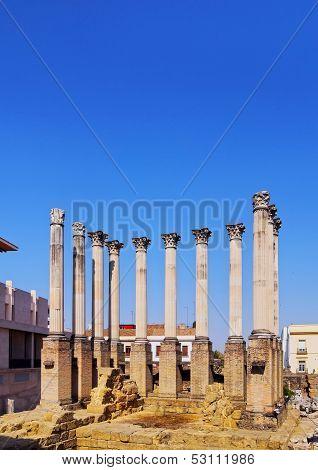 Roman Temple In Cordoba, Spain