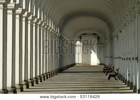 Colonnade in the Floral Garden Kromeriz
