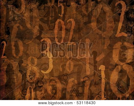 Magic Numbers Brown Background Illustration