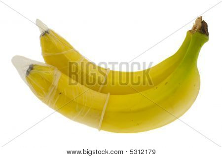 Two Bananas In Condoms