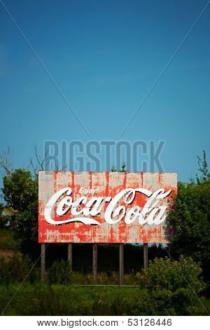 Weathered Coca-Cola Billboard