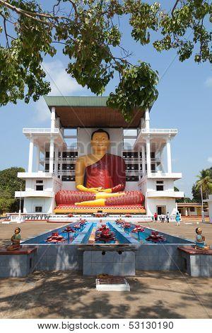 Sri Lanka. Statue of a seated Buddha.