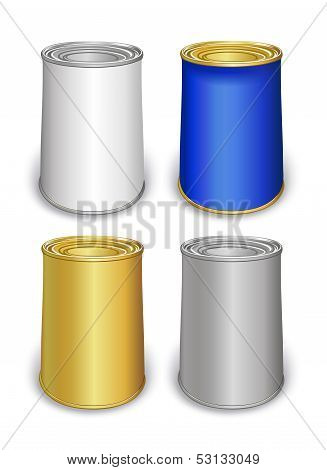Template Tin Colored Cans