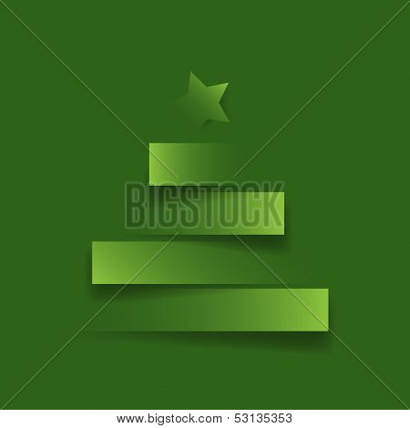 Christmas tree with star,