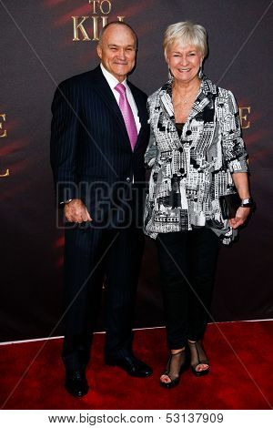 NEW YORK- OCT 20: Police commissioner Raymond Kelly and wife Veronica attend the Broadway opening night of 'A Time To Kill' at The Golden Theatre on October 20, 2013 in New York City.