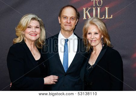 NEW YORK- OCT 20: (L-R) Actors Debra Monk, David Hyde Pierce and producer Daryl Roth attend the Broadway opening night of 'A Time To Kill' at The Golden Theatre on October 20, 2013 in New York City.