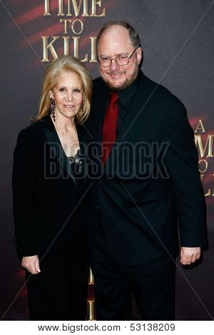 NEW YORK- OCT 20: Producer Daryl Roth (L) and playwright Rupert Holmes attend the Broadway opening night of 'A Time To Kill' at The Golden Theatre on October 20, 2013 in New York City.
