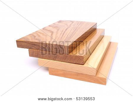 Four boards (acacia, oak, elm, lime)