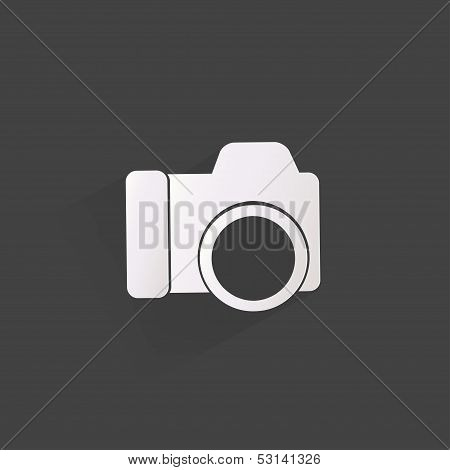 Photo camera web icon,flat design