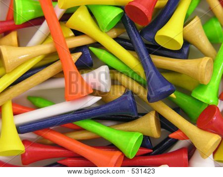 Colorful Golf Tees