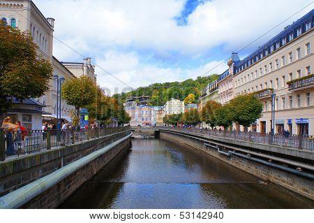 Tepla river in Karlsbad (Karlovy Vary)