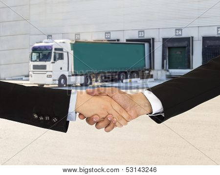 Handshake On Logistics