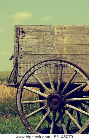 Retro Rear Wagon Wheel