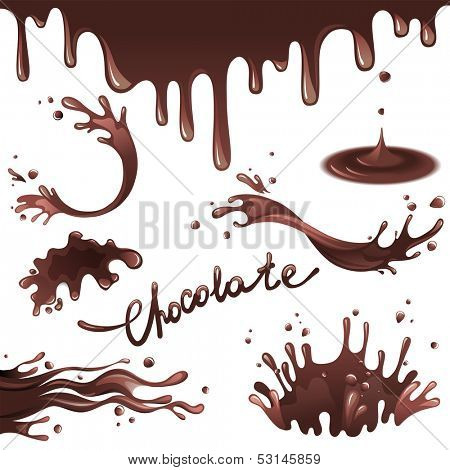 Chocolate splashes  set